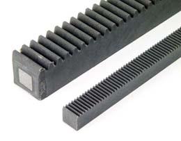 Cremagliera sezione rettangolare : Quadrata - nylon - Con anima in acciaio -
