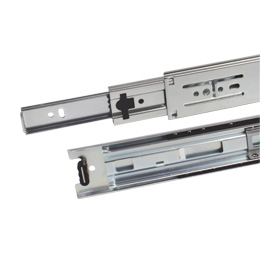 Telescopic slide rule : Full extension, removable - 40kg max - 3 rails
