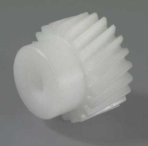 Pignon helicoidal plastique