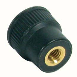 Knob for clamping - Knurled - Female - brass