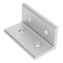 Angle bracket : 4 holes - Aluminium -