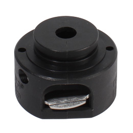 Shaft collar, hinged - Adjustable - Black thermoplastic (PA 6) -