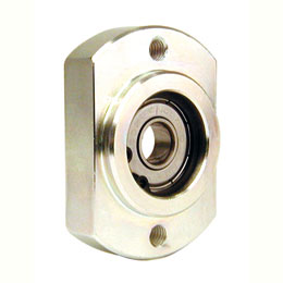 Radial bearing housing - Bearing fitted with circlips - Double flat -