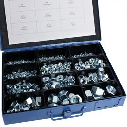 Six-sided nut - DIN 934 - Box set of steel nuts -  -