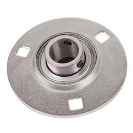 Flange bearing - Stainless steel - 3 fixing holes - Light