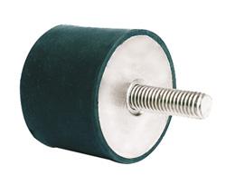 Amortisseur élastique - Inox - Cylindrique - 2 côtés mâle/femelle