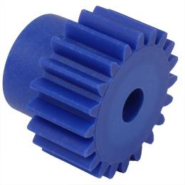 Engrenage droit - Plastique moulé (nylon bleu) - 0,50 - Contact alimentaire