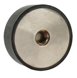 Butée élastique - inox - Cylindrique - 1 côté femelle
