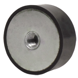 Cylindrical stop - steel - Cylindrical - 1 side Female