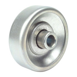 Handling roller : Zinc plated steel - With ball bearing -