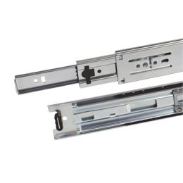 Telescopic slide rule : Full extension, removable - 40kg max - 3 rails