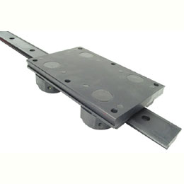 V- rail guidance system - Rail with carriage - 266mm -
