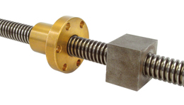 Trapezoidal rolled leadscrew - Stainless steel - 1 thread -  -