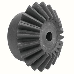 Moulded plastic bevel gear (nylon) : 3:1 - 2.50 - Economy range