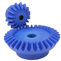 Moulded plastic bevel gear (blue nylon) - 2:1 - 1.50 - Food industry