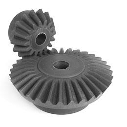 Moulded plastic bevel gear (nylon) : 2:1 - 3.00 - Economy range