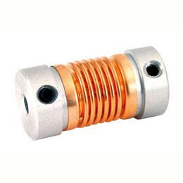 Bellows coupling - Aluminium and Bronze - With set screw -  -