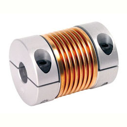 Bellows coupling - Aluminium and Bronze - with clamping jaw -  -