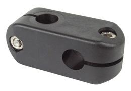 Noix renvoi d'angle - Réglable - 2  ronds - Vis de pression