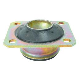 Suspension conique de fixation - Plaque de base carrée - 4 trous de fixation -