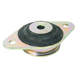 Suspension conique de fixation - Plaque de base ovale - 2 trous de fixation -