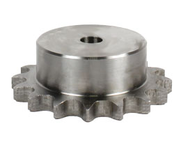 Chain sprocket - steel : Pitch:8mm (DIN 05B-1) - economy range - 5mm -