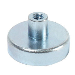 Magnetic stud - Flat magnet with threaded hole - NdFeB -