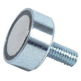 Magnetic stud - Flat magnet with thread - NdFeB -