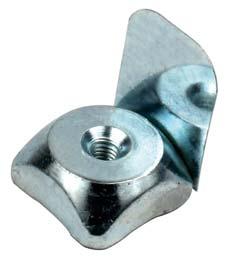 Fissaggio - Dado quadrato con linguetta - Inox -  -