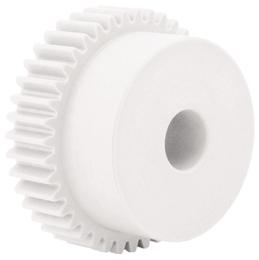 Spur gear - precision range : Delrin - 0.5 - grade 8e DIN 58405