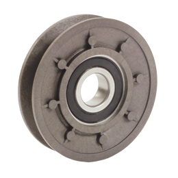 Tensioner pulley - For V belts - PA6 reinforced with 30% fibreglass - 5 000 rpm