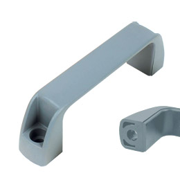 Housing handle - Multi-sector - Smooth hole - Grey (food industry) -