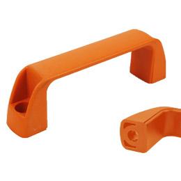 Housing handle - Multi-sector - Smooth hole - Orange (furniture, kitchens) -