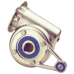 Riduttore inox a ruota e vite senza fine - Braccio di reazione - RFV -