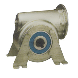 Worm and wheel gearbox - Stainless steel - Mounting bracket - RFV -