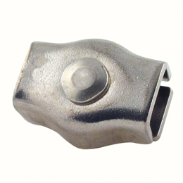Cable clamp - Stainless steel - Single - Flat