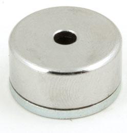 Aimant - Plot magnétique - Avec trou central - ALNICO -