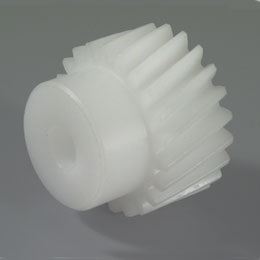 Parallel axis helical gear - Machined plastic (delrin) - 0.8 -