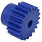 Engrenage droit Plastique moulé (nylon bleu)