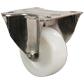 Roulette fixe à platine Inox - Polyamide