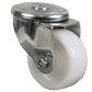Roulette pivotante à trou central Inox - Polyamide