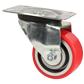 Roulette pivotante à platine Polyuréthane - jante aluminium (ultra-roulante)