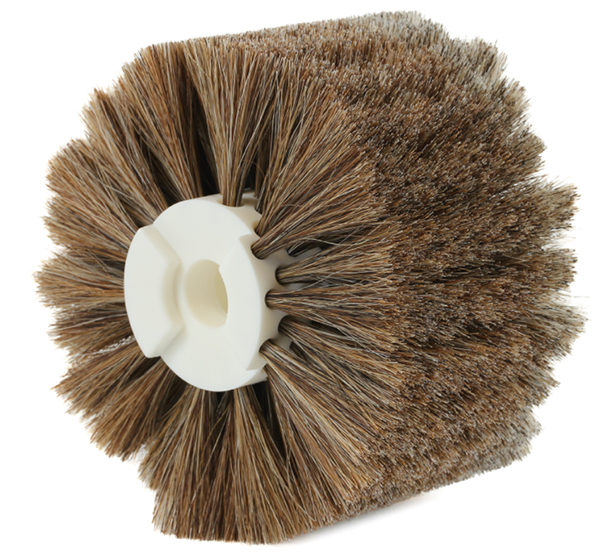 Modular cylindrical brush - Horsehair bristles - Dusting - Use in dry environments
