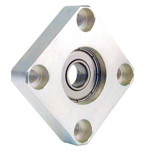 Bride à roulement radial - Montage avec circlips - Carrée -