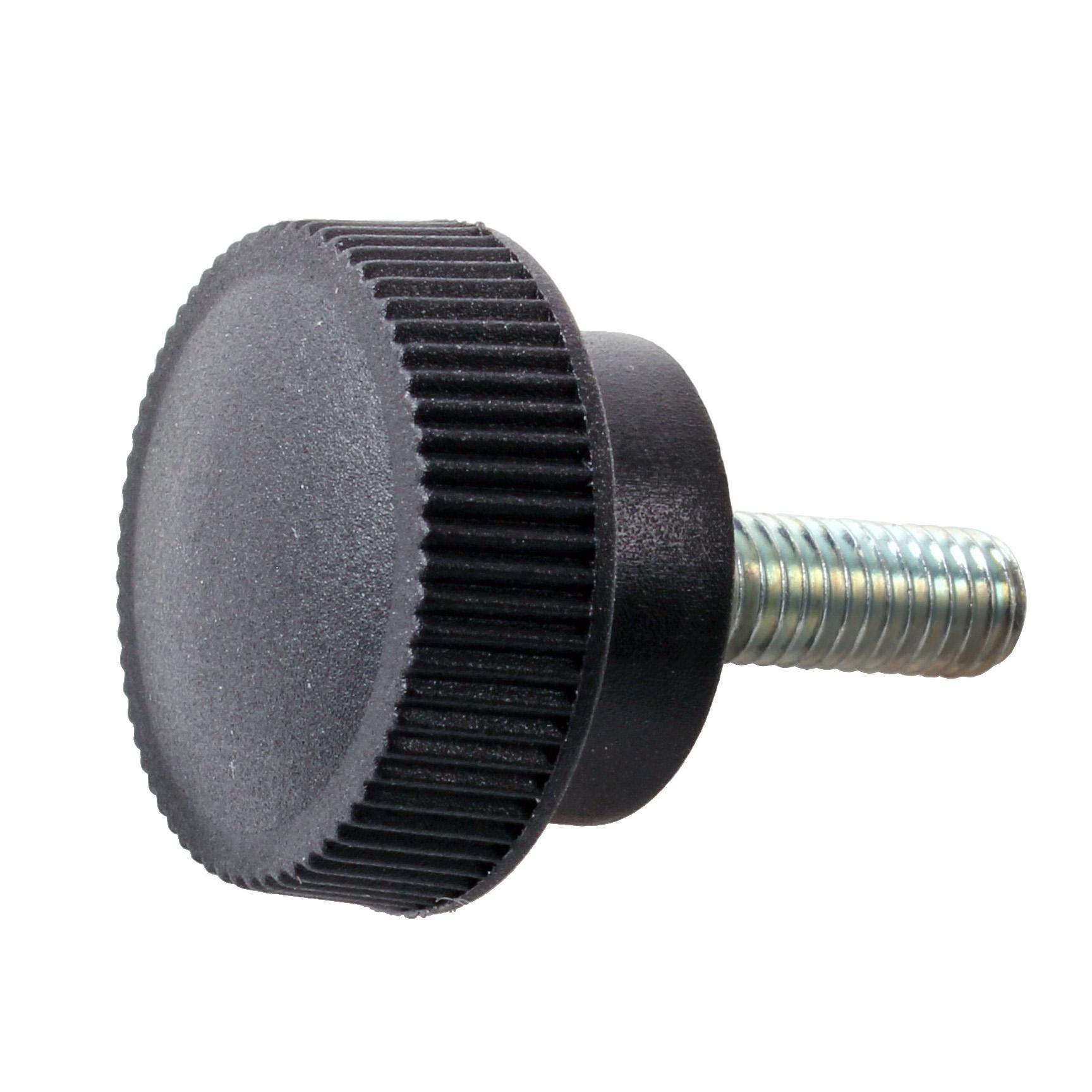 Bouton de serrage - Moleté - Mâle - Technopolymère tige acier