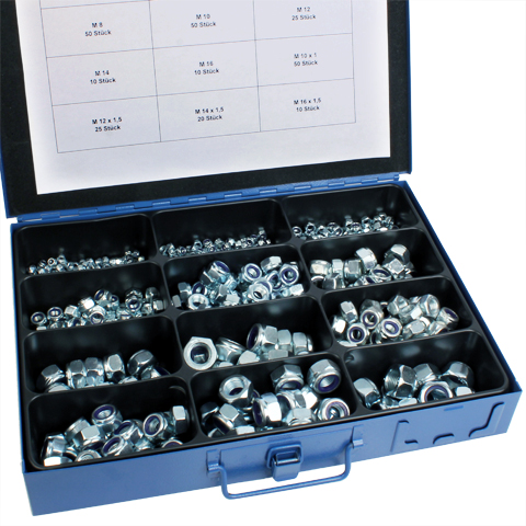 Self locking nut - DIN 985 - Box set of steel nuts -  -