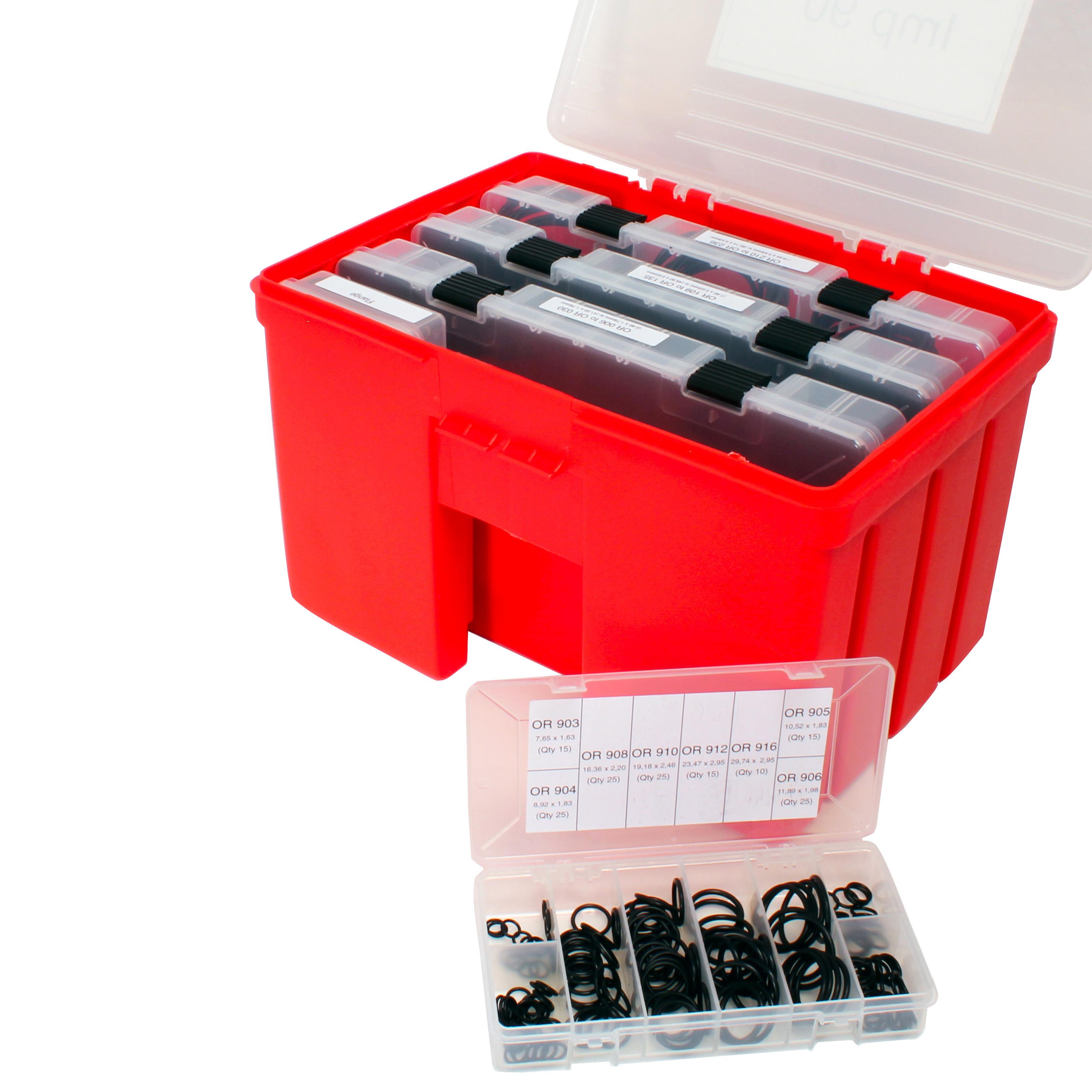 Box set of Nitrile O-rings - 2.90 x 1.78mm to 82.14 x 3.53 - NBR 90 Sh A -
