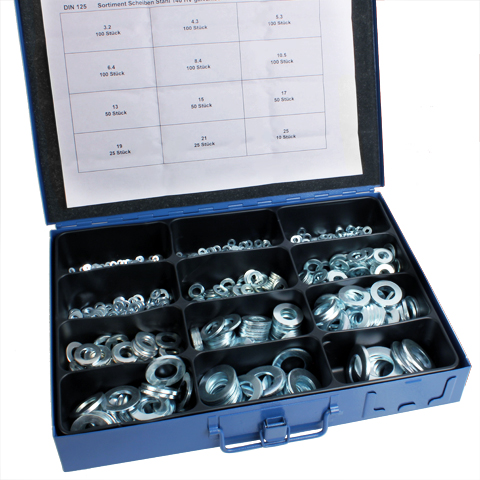 Washer - DIN 125 - Box set of steel washers -  -