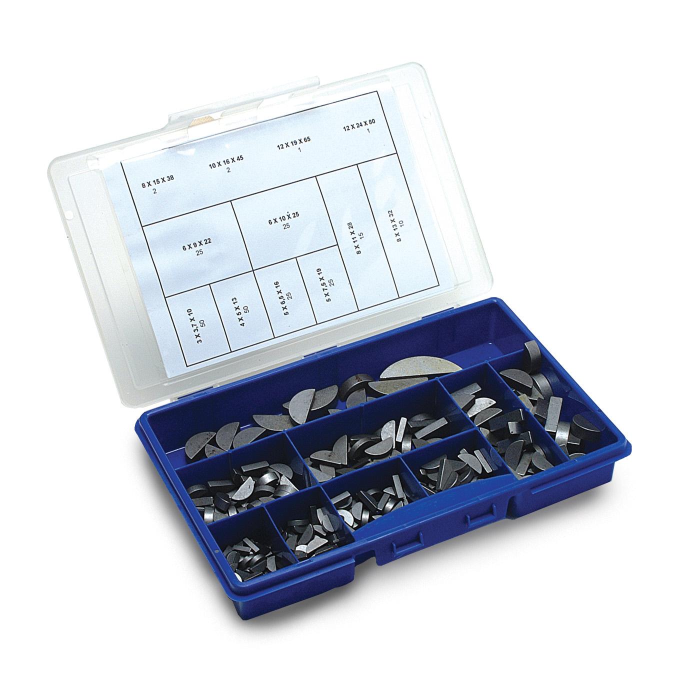 Key - Boxed set of half round keys - steel -  -