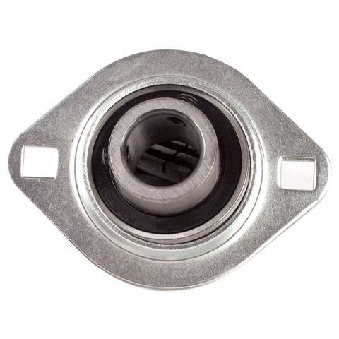 Flange bearing - Stainless steel - 2 fixing holes - Light